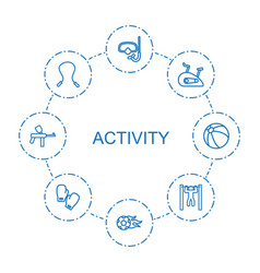 8 activity icons vector