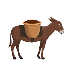 a donkey vector image