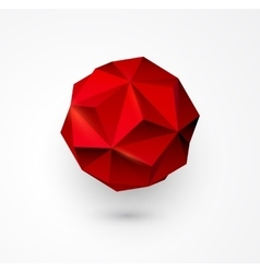 Abstract polygon shape low poly sphere vector