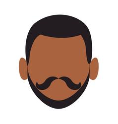 Afro man faceless head vector