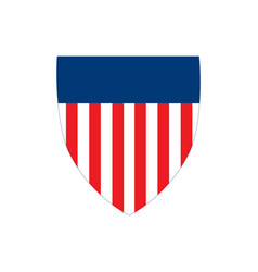 american flag badge shield with stripes vector image