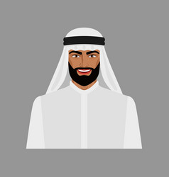 arabian businessman in traditional clothes vector image