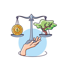 Balance and sustainability design vector
