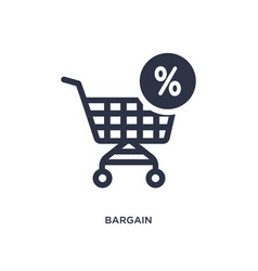 Bargain icon on white background simple element vector