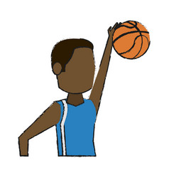 Basketball player design vector