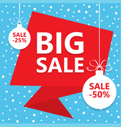 big christmas sale winter sale poster vector image