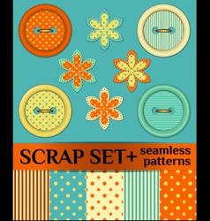Buttons scrap set vector