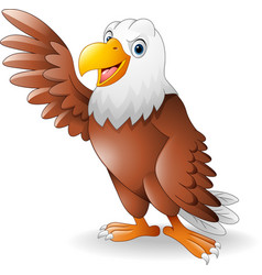 Cartoon eagle presenting vector
