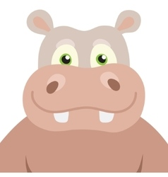 Cartoon Hippopotamus portrait vector
