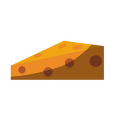 Chesse slice icon image vector
