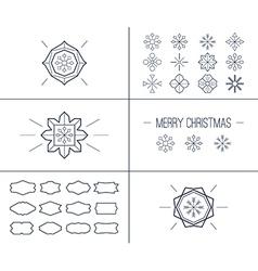 Christmas retro vintage card vector image