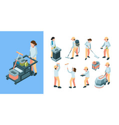cleaning industry isometric industrial cleaning vector image