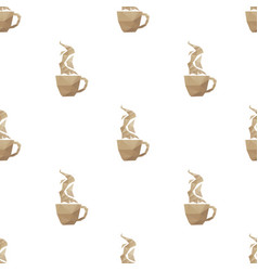 Coffee cup triangle pattern backgrounds vector