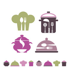 Cooking and restaurant symbols vector