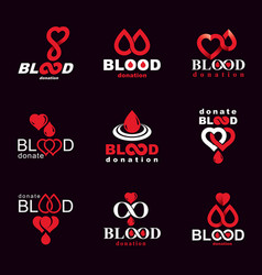 Created on blood donation theme blood transfusion vector