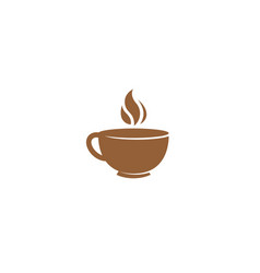 creative abstract mug coffee logo design symbol vector image