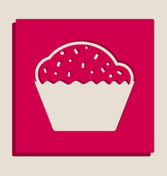Cupcake sign grayscale version of popart vector