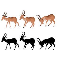 Cute cartoon antelope vector