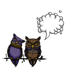 cute owls-100 vector image