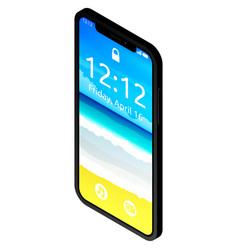 cute smartphone with notch displayisometric vector image