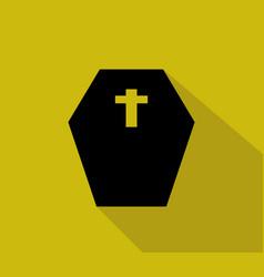 dead coffin icon vector image