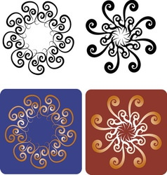 Decorative flowers 7 vector image