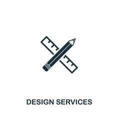design services icon premium style design from vector image
