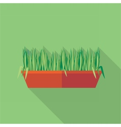 Digital green decorative grass vector image