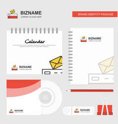 email logo calendar template cd cover diary and vector image