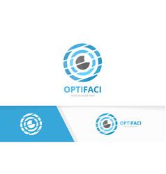 eye logo combination optic symbol or icon vector image