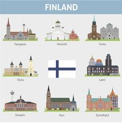 Finland symbols cities vector