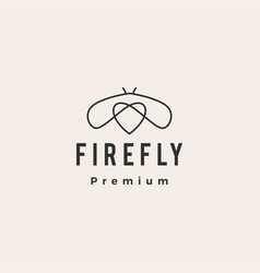 firefly love hipster vintage logo icon vector image
