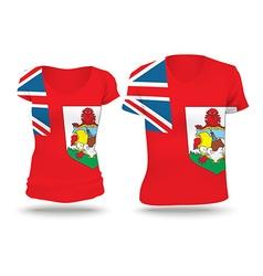 Flag shirt design of Bermuda vector