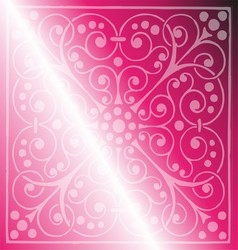 Floral Pattern on a Pink Background vector image