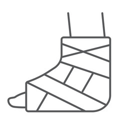 foot brace thin line icon orthopedic and medical vector image
