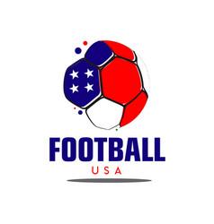 Football usa logo template design vector