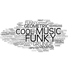 Funky word cloud concept vector