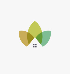garden house logo template design farming logotype vector image