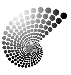 grayscale dotted spiral volute graphic editable vector image