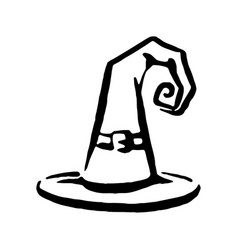 Hand drawn witch and magic item hat vector