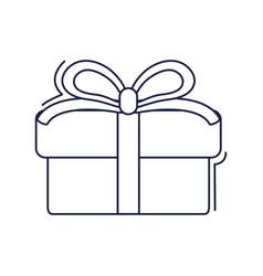 happy birthday gift box with ribbon decoration vector image