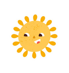 happy smiling cute sun hot summer sunny weather vector image