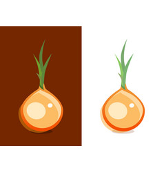 icon of onion vegetable on dark and white vector image