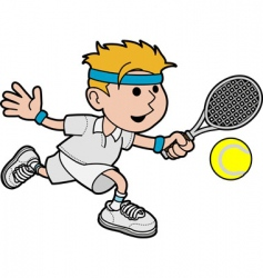 illustration of male tennis player vector image