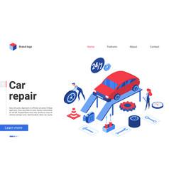 isometric car repair service vector image