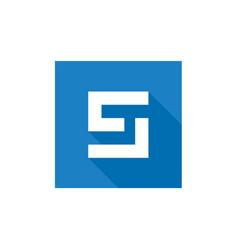 Letter s logo design blue s letter icon vector