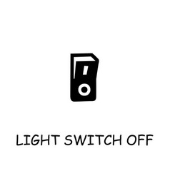 Light switch off flat icon vector