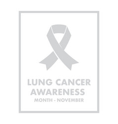 lung cancer awareness vector image