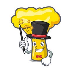 Magician chanterelle mushroom mascot cartoon vector