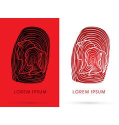 Man and woman fingerprint vector